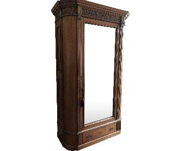 Antique Armoire w/ Mirrored Door