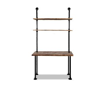 Diwhy Industrial Wall Mount Iron Pipe Desk