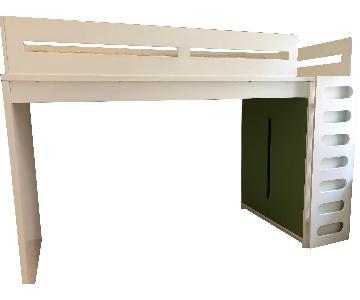 DucDuc Kids Alex Loft Bed w/ Built-in Armoire