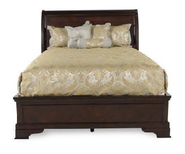Ashley Solid Wood Queen Sleigh Storage Bed