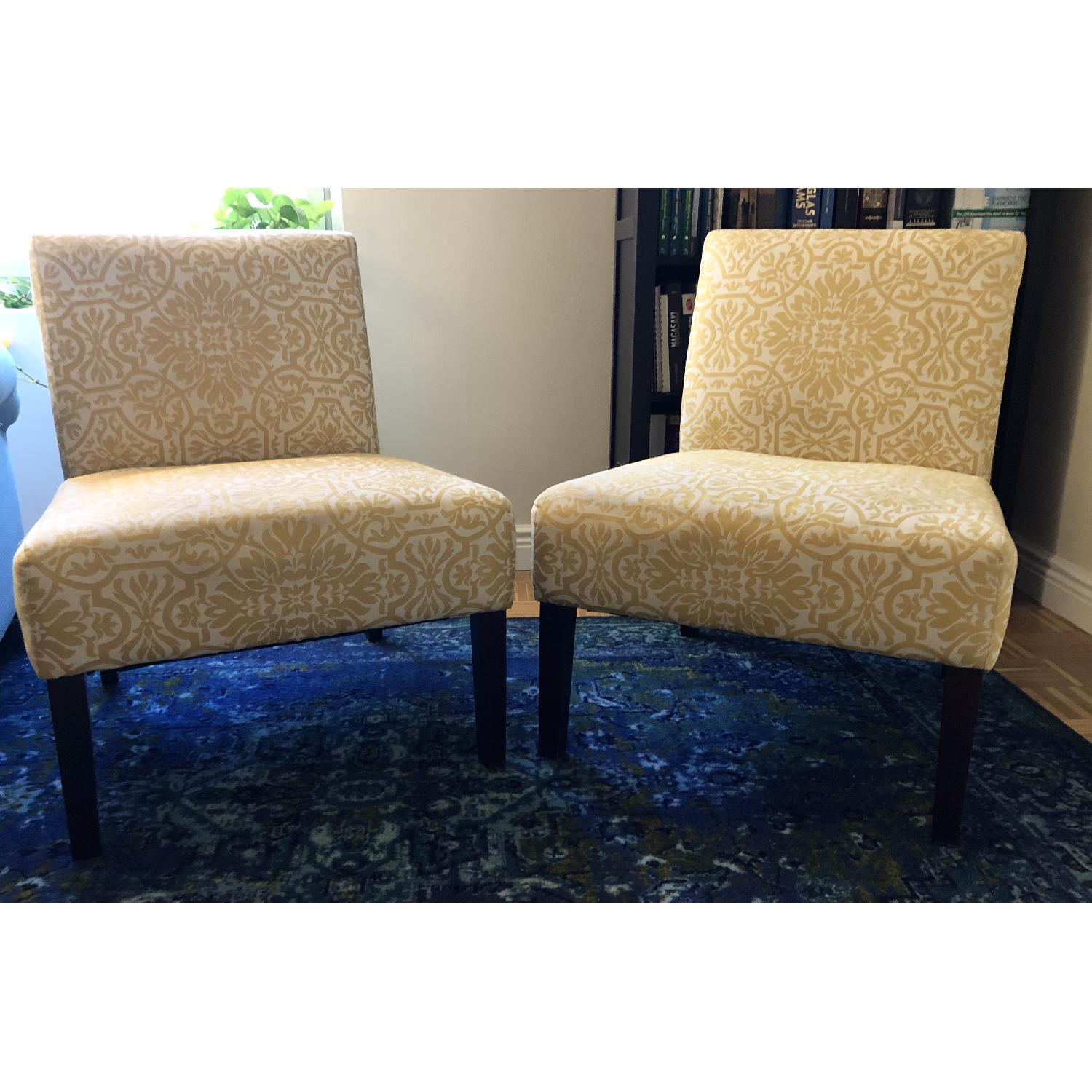 Handy Living Golden Yellow Damask Side Chairs - image-2