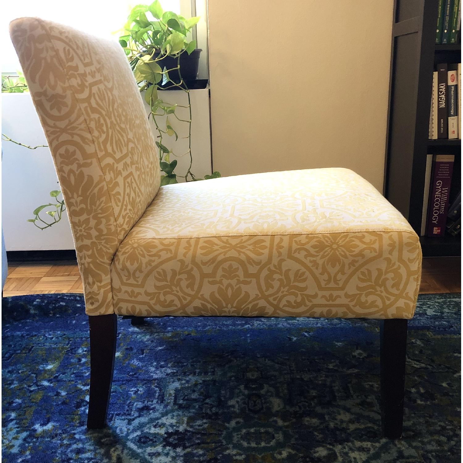 Handy Living Golden Yellow Damask Side Chairs - image-3