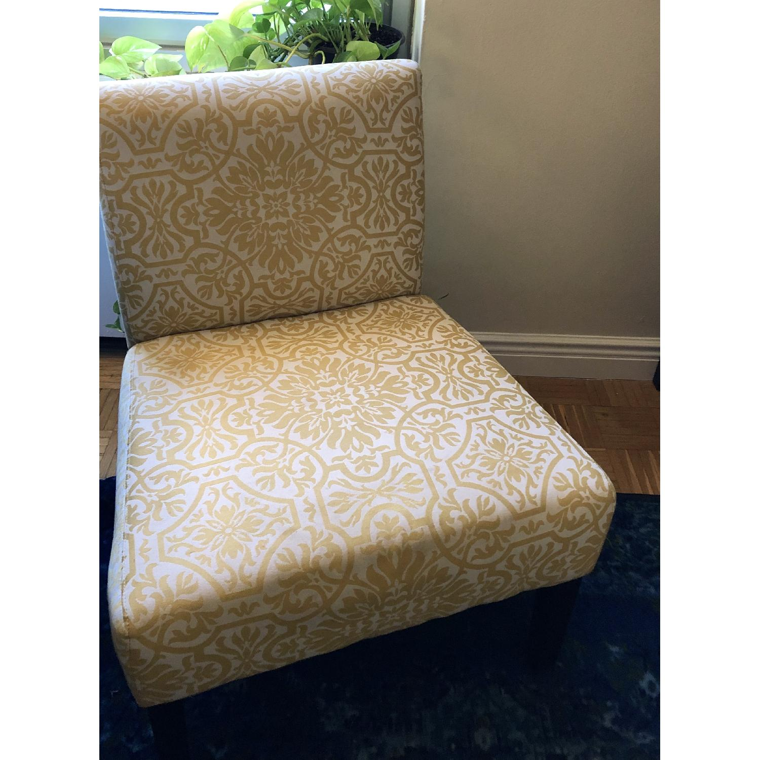 Handy Living Golden Yellow Damask Side Chairs - image-5