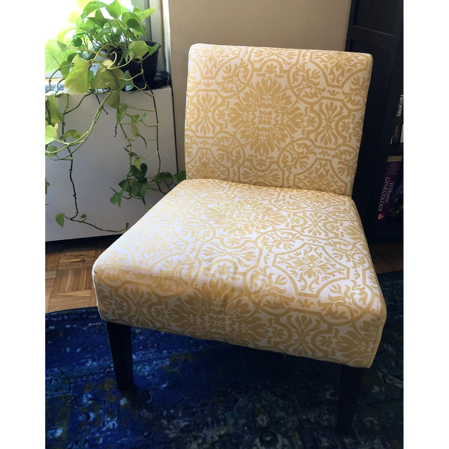 Handy Living Golden Yellow Damask Side Chairs - image-6