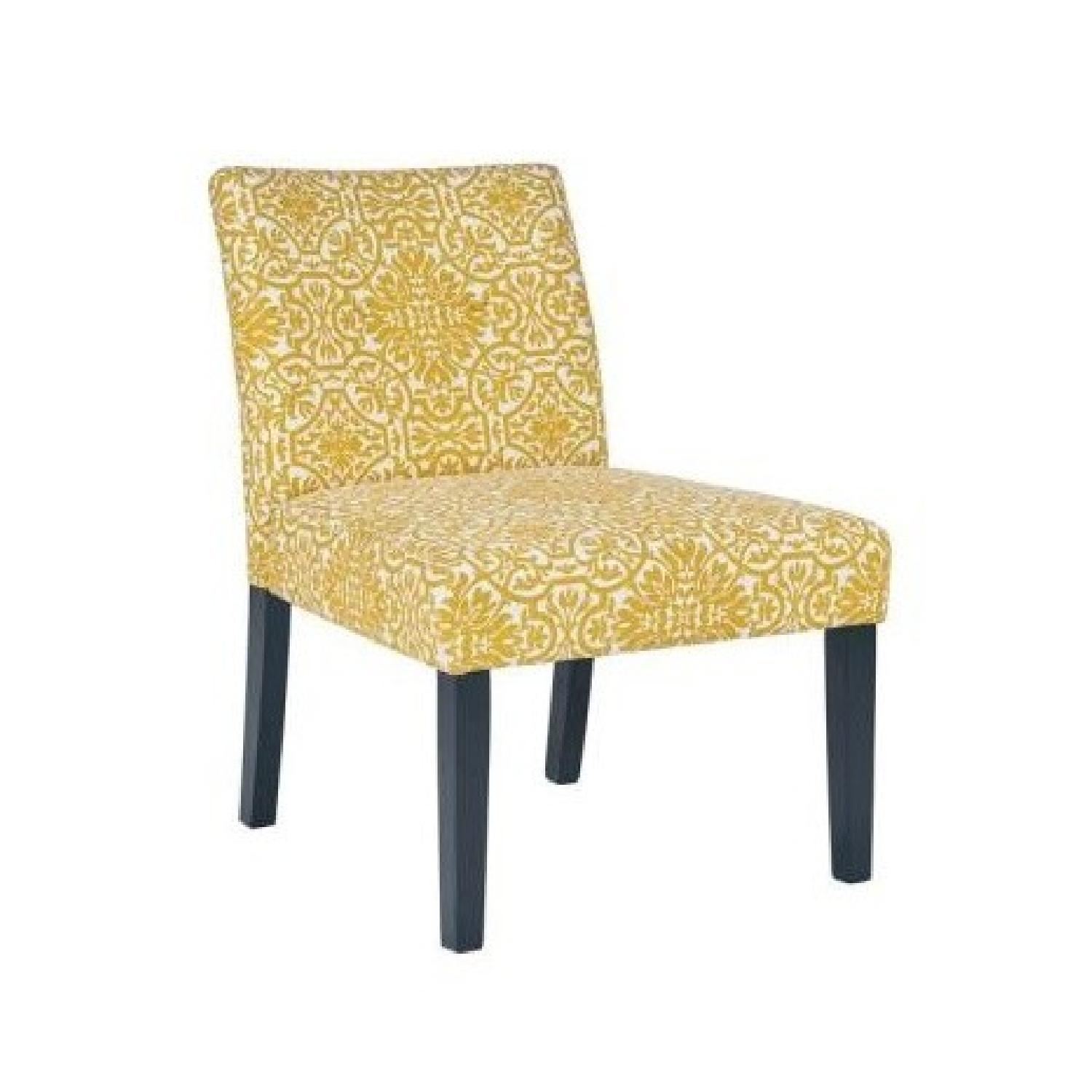 Handy Living Golden Yellow Damask Side Chairs - image-0