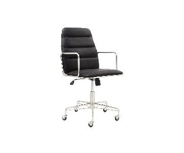 CB2 Mad Black Executive Chair