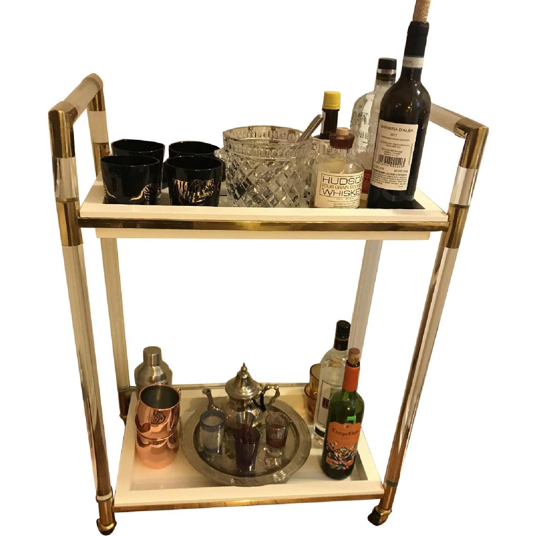 Joss & Main Lucite & Brass Bar Cart