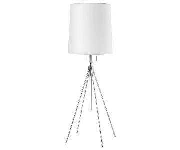 West Elm Adjustable Metal Floor Lamp in Polished Nickel