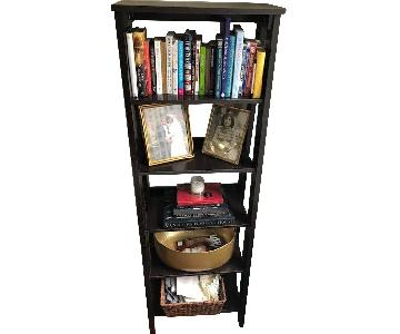 Dark Wood 5-Shelf Bookcase