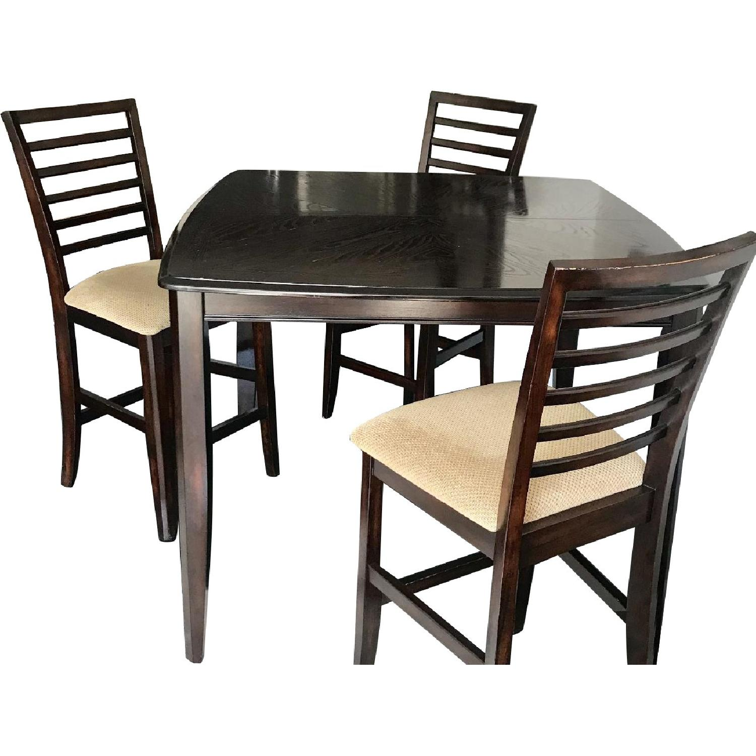 Wood Dining Table, Bar Height, Solid Wood - per set of 7
