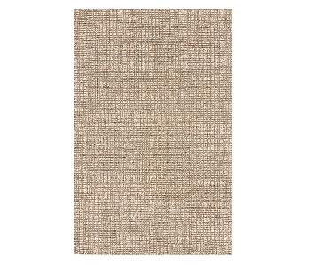 Pottery Barn Chunky Wool Jute Rug in Natural