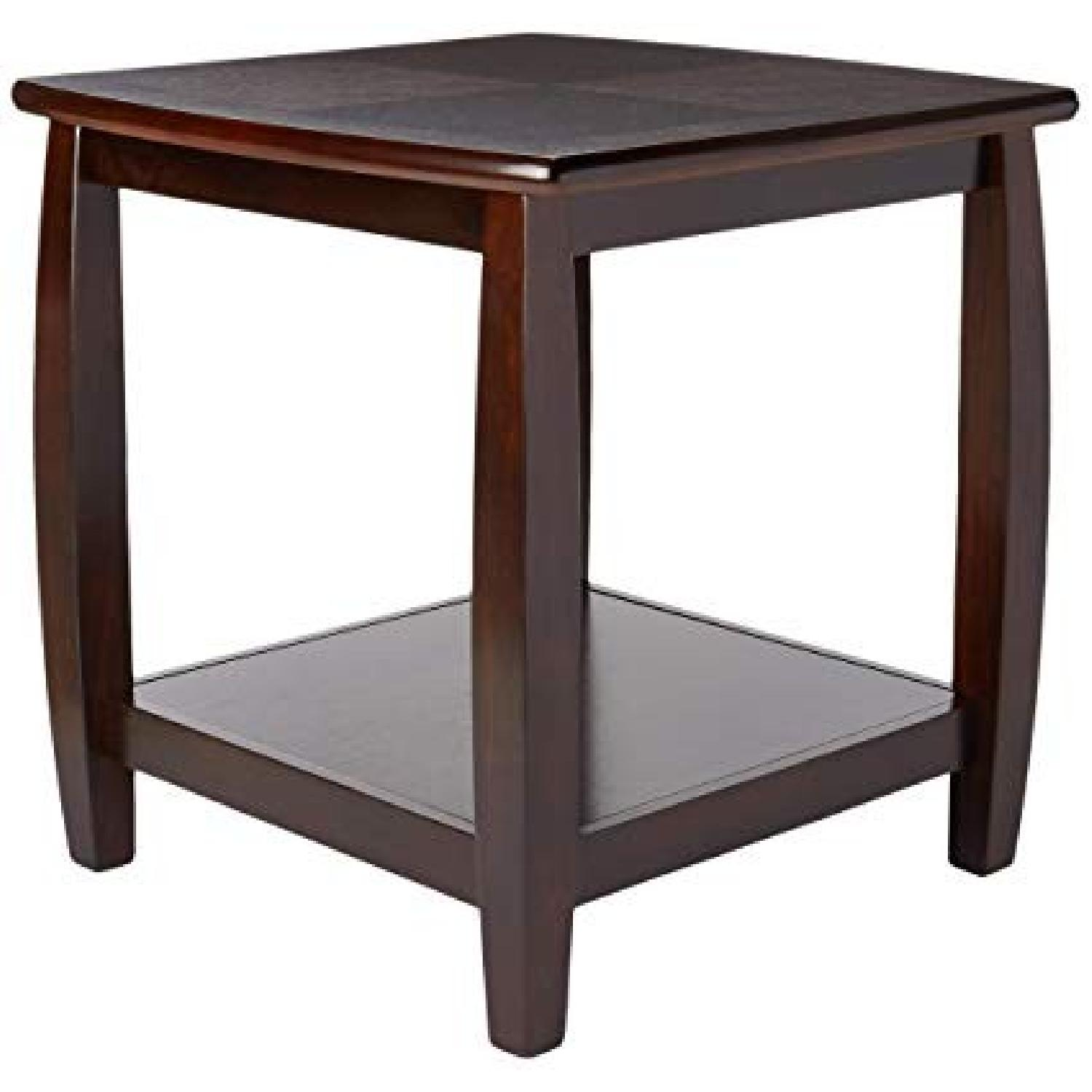 Espresso Traditional Style End Table