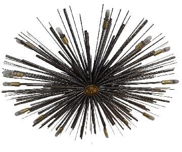 Custom Sputnik Starburst Chandelier Flushmount