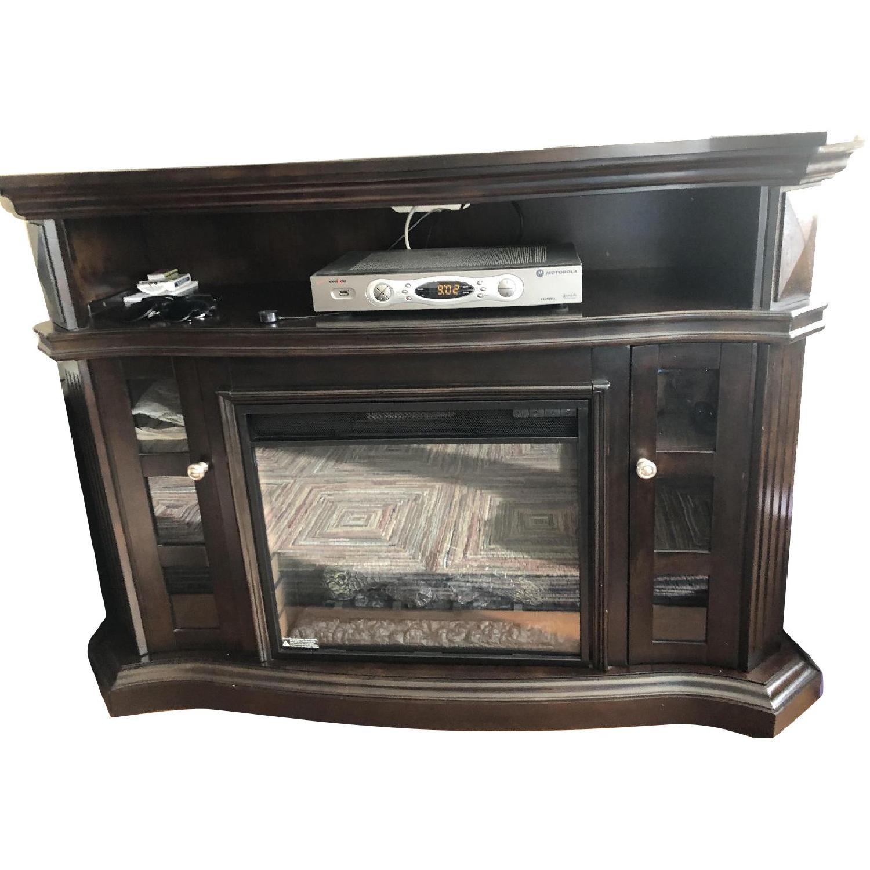 Bob's TV Stand w/ Electric Fireplace