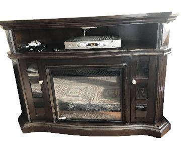Bob's TV Stand w/ Electric Fireplace