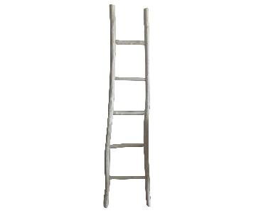 Decorative White Distressed Ladder