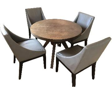 West Elm Round Dining Table w/ 4 Chairs