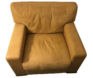 Nienkmper Beige Leather Armchair