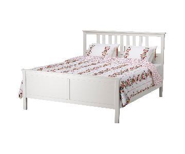 Ikea Hemnes Full Bed Frame w/ Luroy Slatted Bed Base