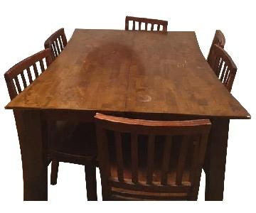 Bob's Extension Counter Height Dining Table w/ 6 Chairs