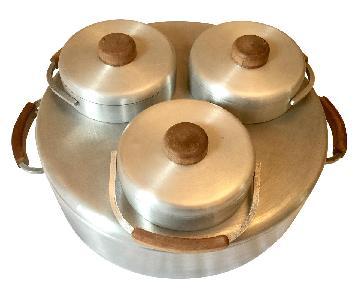 Russel Wright Spun Aluminum Bain Marie