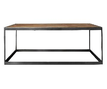 Restoration Hardware Russian Oak Parquet Coffee Table