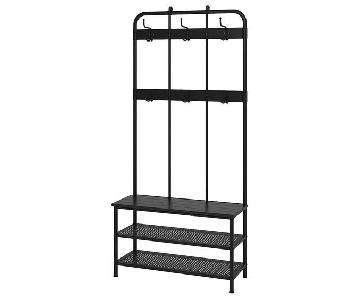 Ikea Pinnig Coat Rack w/ Shoe Storage