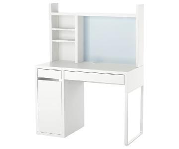 Ikea Micke Desk w/ Add On Unit