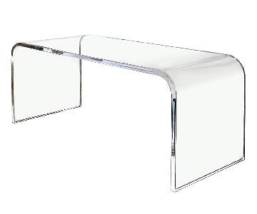 SoutheastFlorida Acrylics Clear Waterfall Coffee Table