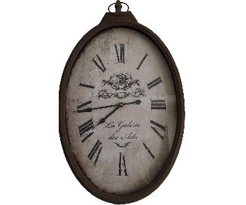 Brown Antiqued Wall Clock