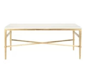 Safavieh Acker Marble/Gold Coffee Table