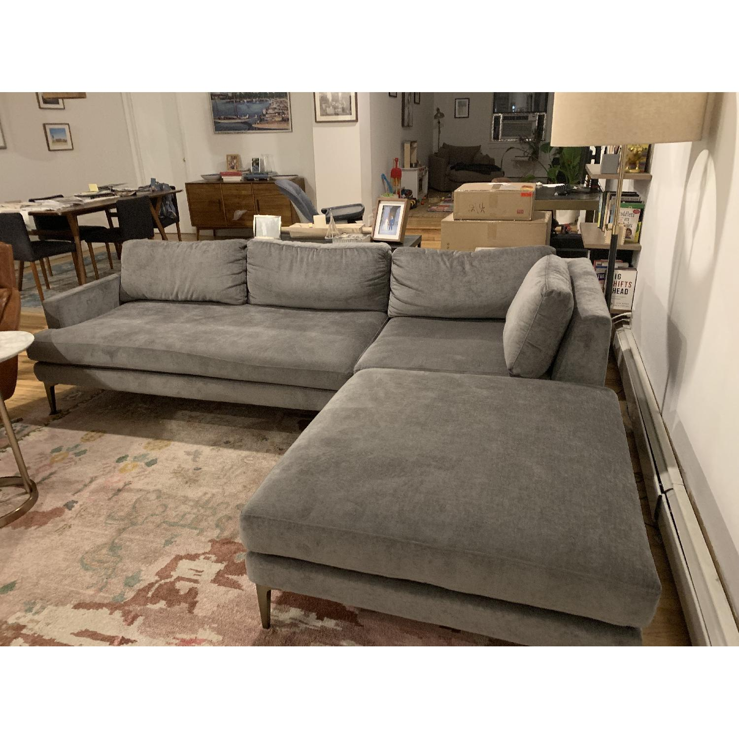 West Elm Andes 3-Piece Sectional Sofa in Performance - AptDeco