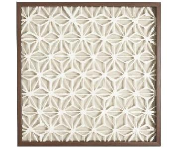 World Market Rice Paper Star Shadow Box Wall Art