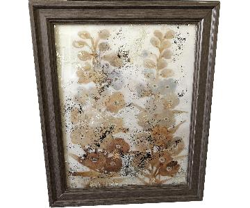 Metallic Earth Tones Flower Wall Art