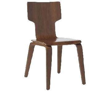 West Elm Stackable Dining Chairs in Walnut