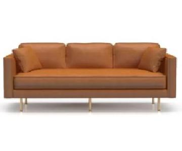 Union Rustic Manufahi Leather Sofa