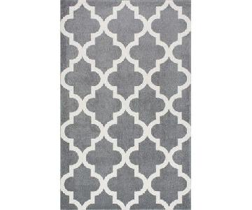 Wrought Studio Sherrer Dark Gray Area Rug