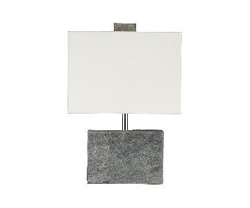 Crate & Barrel Orda Slate Table Lamp