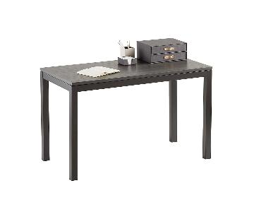 The Container Store Small Weathered Smoke Parsons Desk