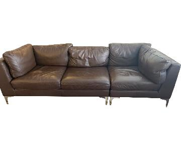 Design Within Reach Lecco Leather 2-Piece Sofa