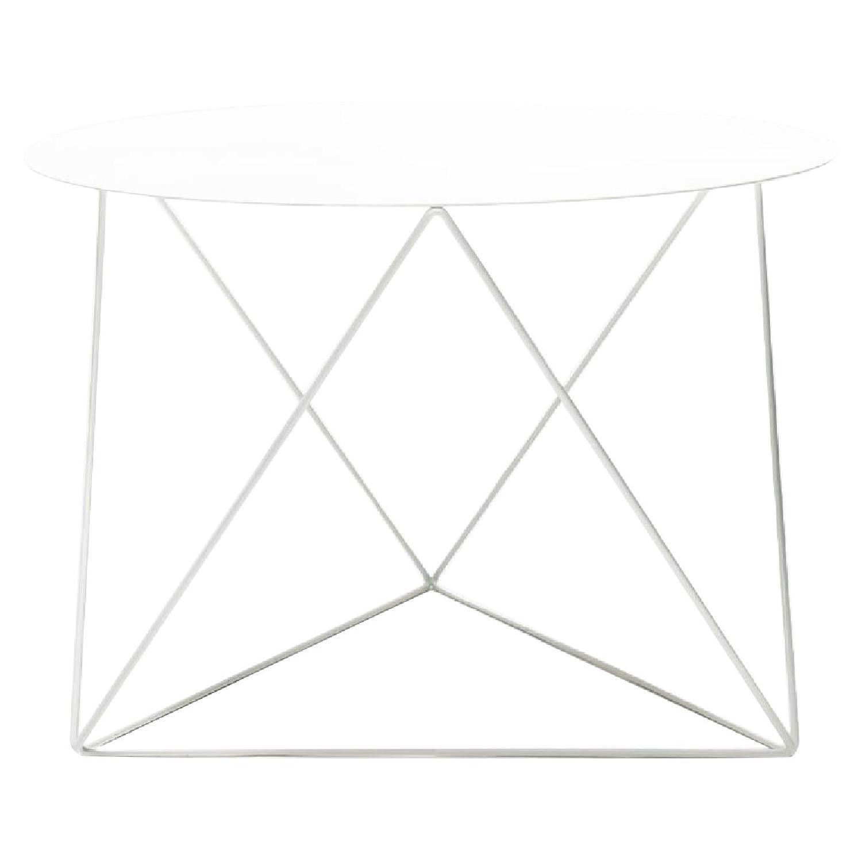 Eric Trine Octahedron Powder-Coated Steel White Table