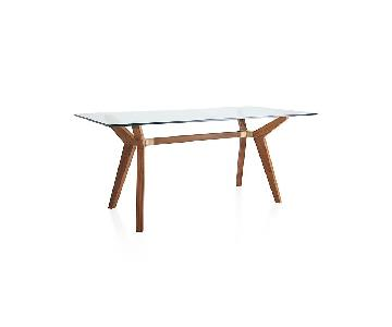 Crate & Barrel Glass Dining/Work Table