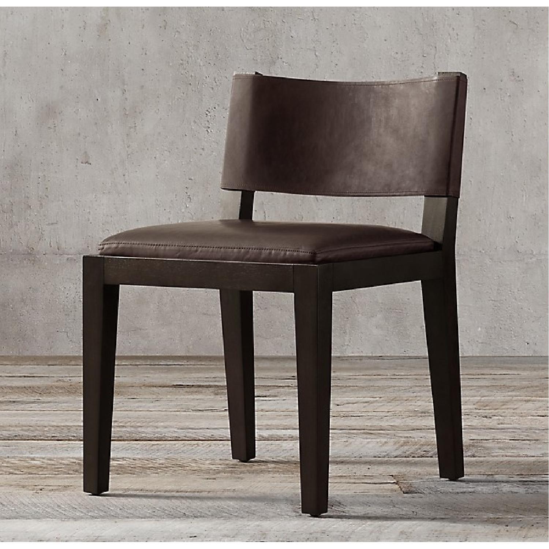 Restoration Hardware Saddle Leather Side Chair-0