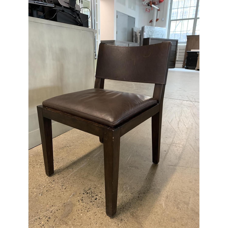 Restoration Hardware Saddle Leather Side Chair-1