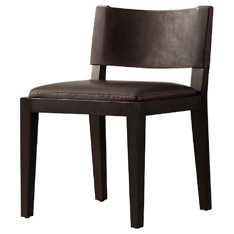 Restoration Hardware Saddle Leather Side Chair