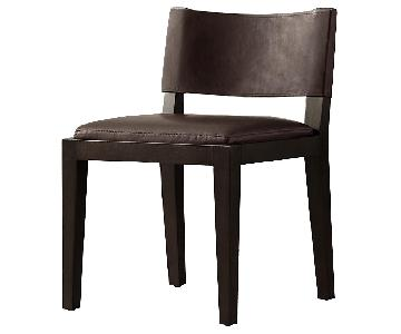 Restoration Hardware Saddle Leather Side Chair