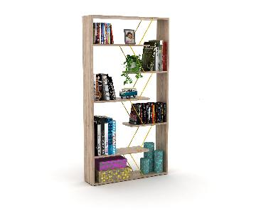 Tamara Trading Oak Yellow Bookcase