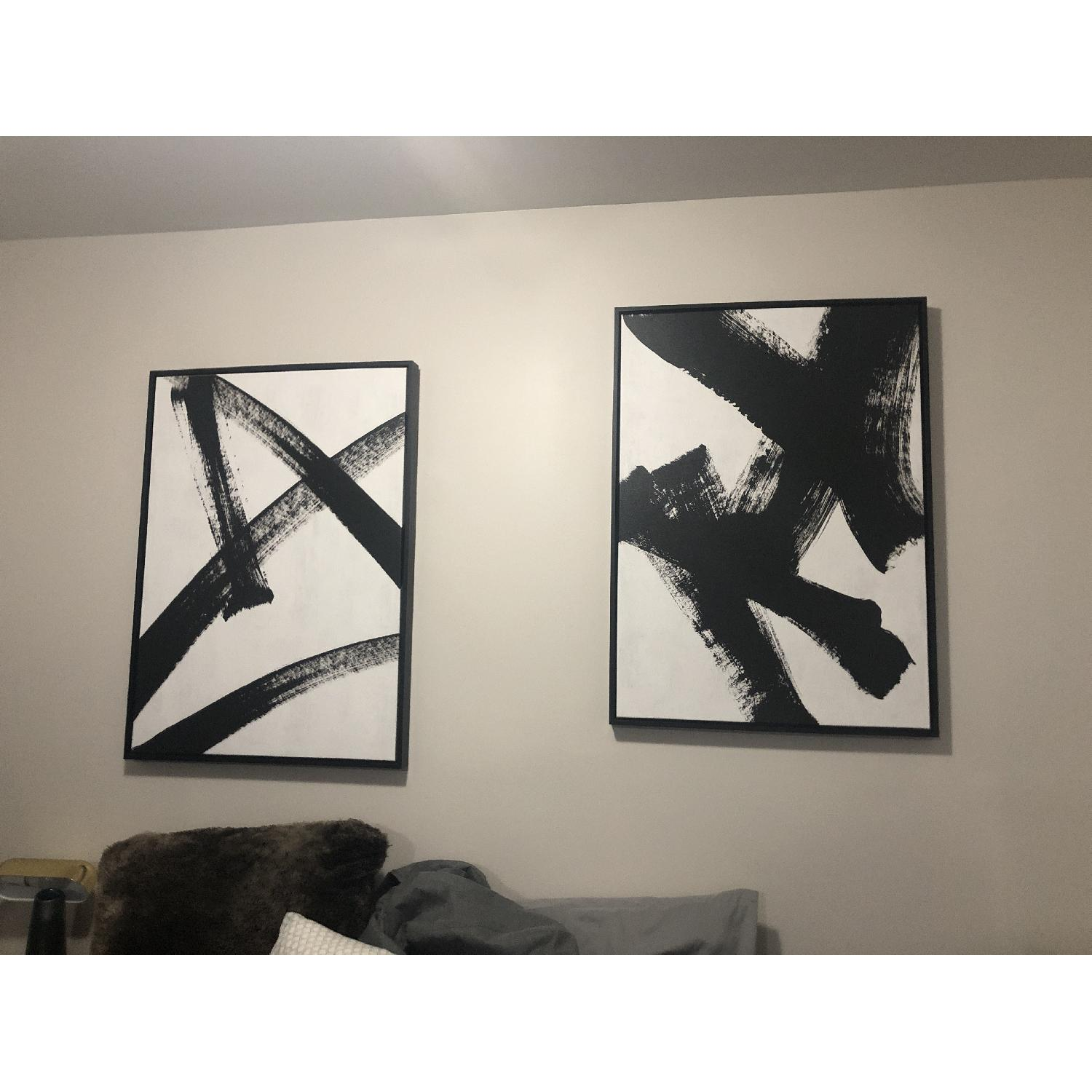 West Elm Black Ink Brush Wall Art-0