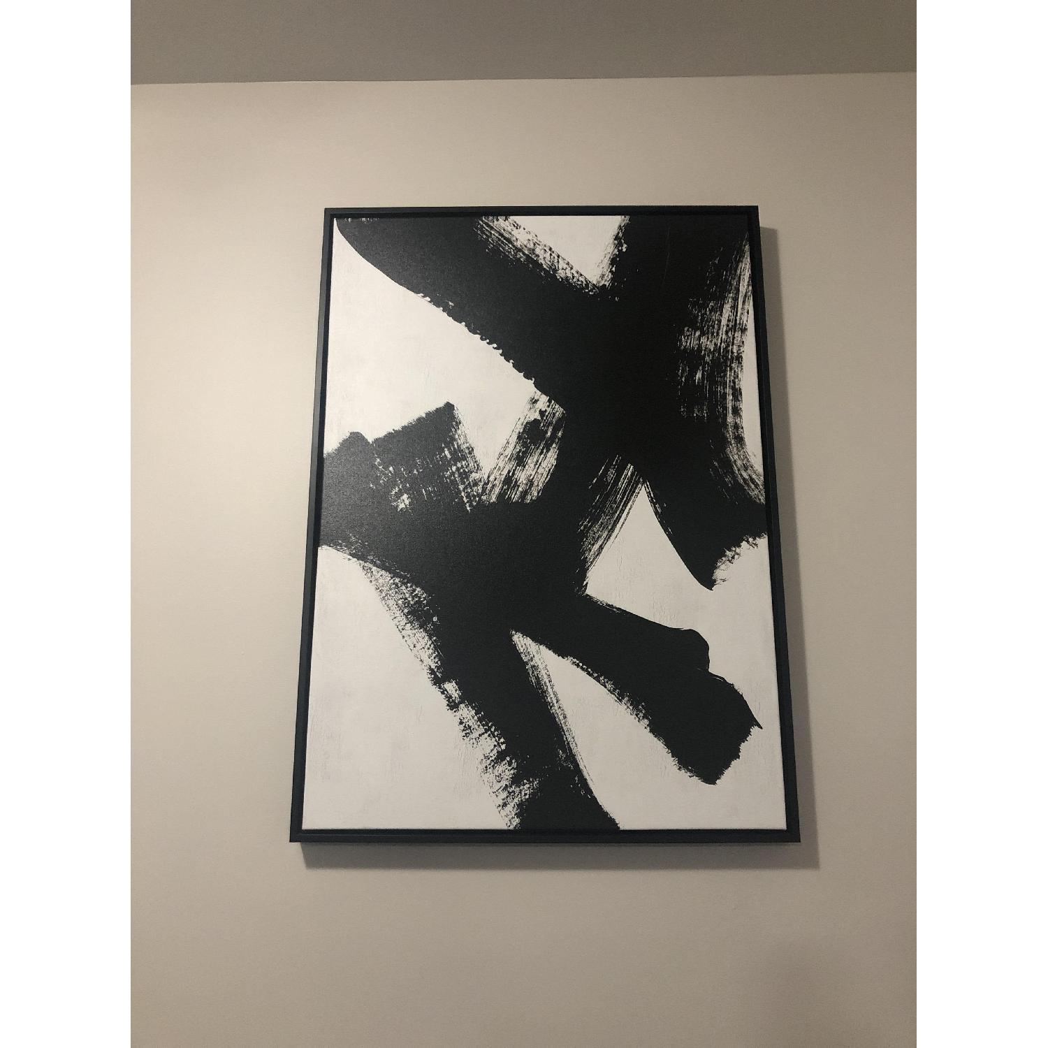 West Elm Black Ink Brush Wall Art-1