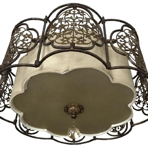 Used Elements Semi Flushmount in Traditional Bronze for sale on AptDeco